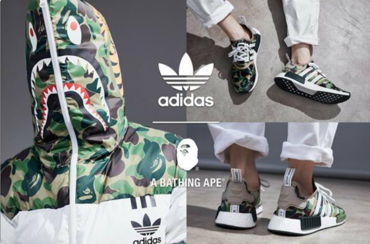 THE RELAUNCH OF THE BAPE x Adidas COLLABORATIONCOLLECTION.