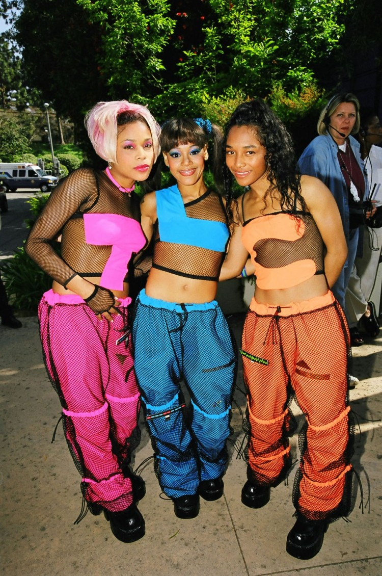 TLC on Fishnet Top and Tracksuit