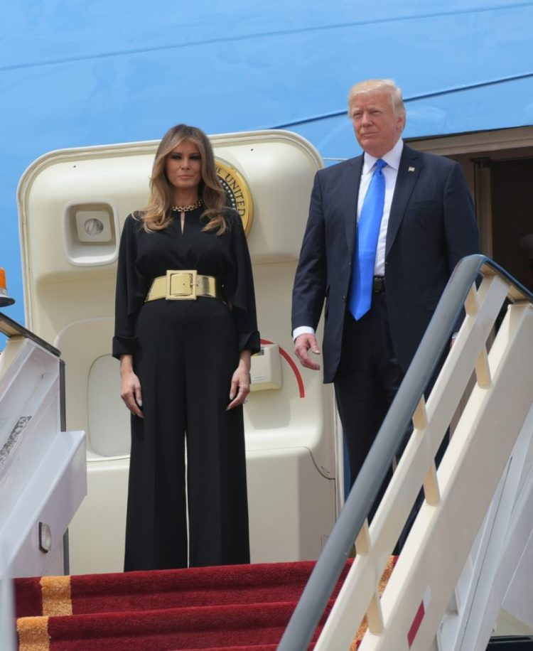 Melania Trump outfit in S.A