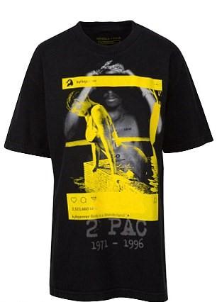 Kylie merged photograph T shirt