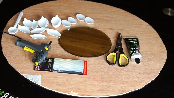 Materials Used for the Sunburst Mirror