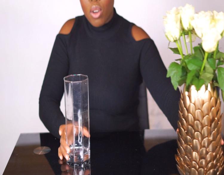 Transparent Flower vase