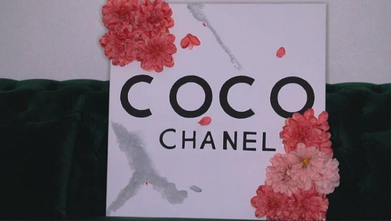 Coco Chanel 3D Flower Wall Art