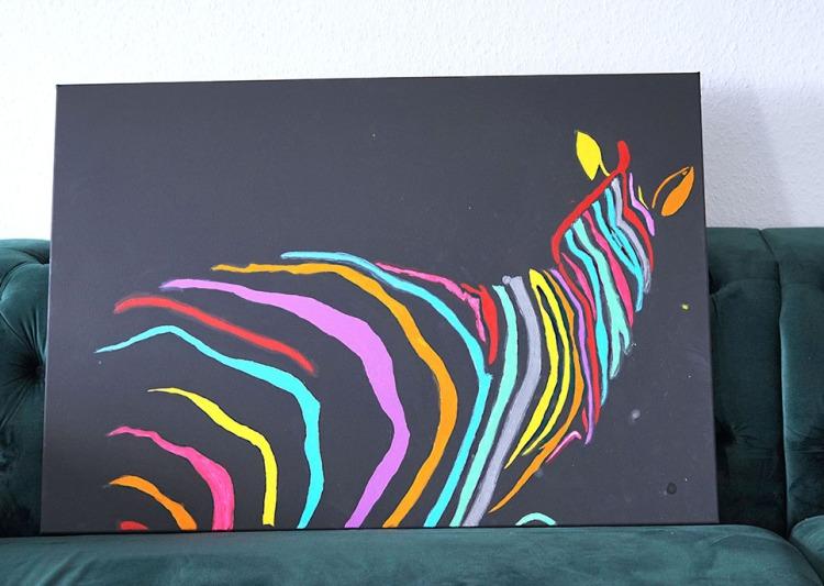 Zebra Acrylic painting
