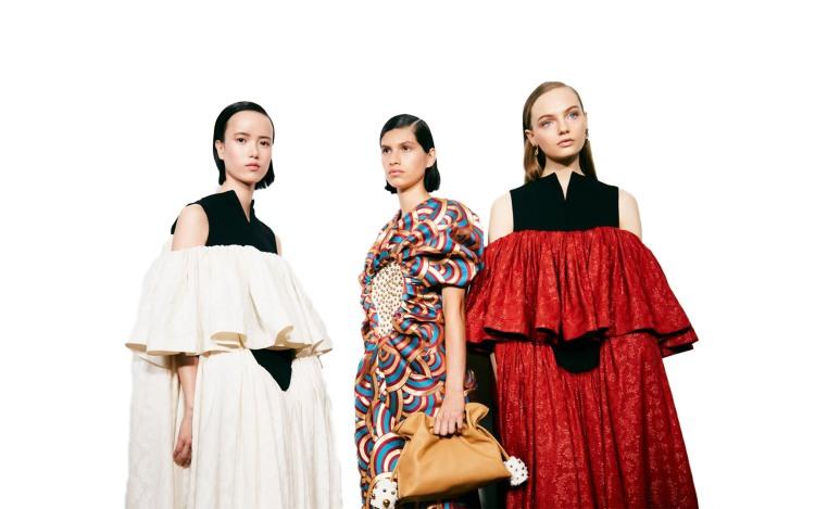 Voluminous dress by Loewe
